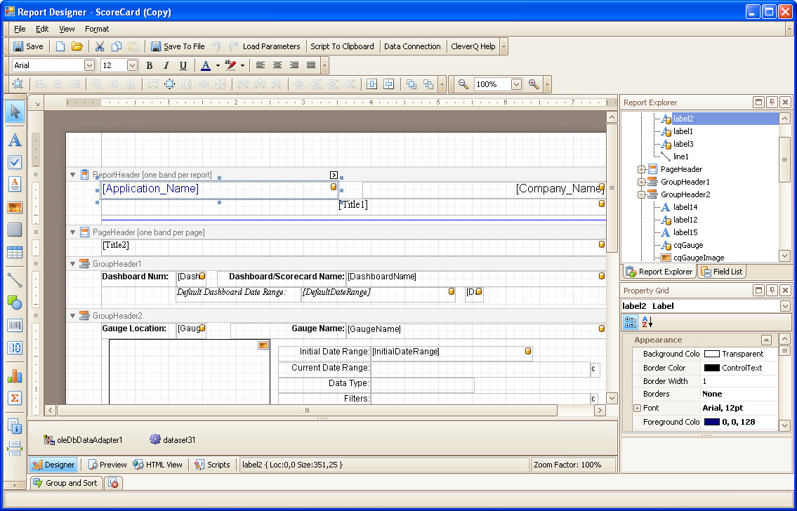 Reports Designer Software